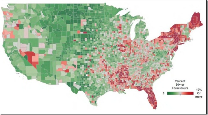 February 2014 LPS delinquent and foreclosure map