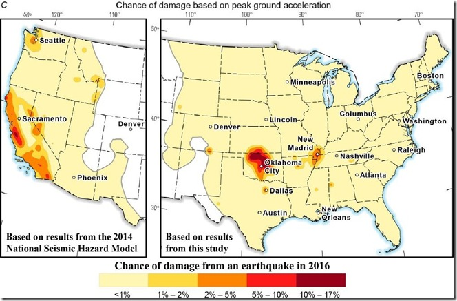 March 30 2016 USGS chance of damaging earthquake map